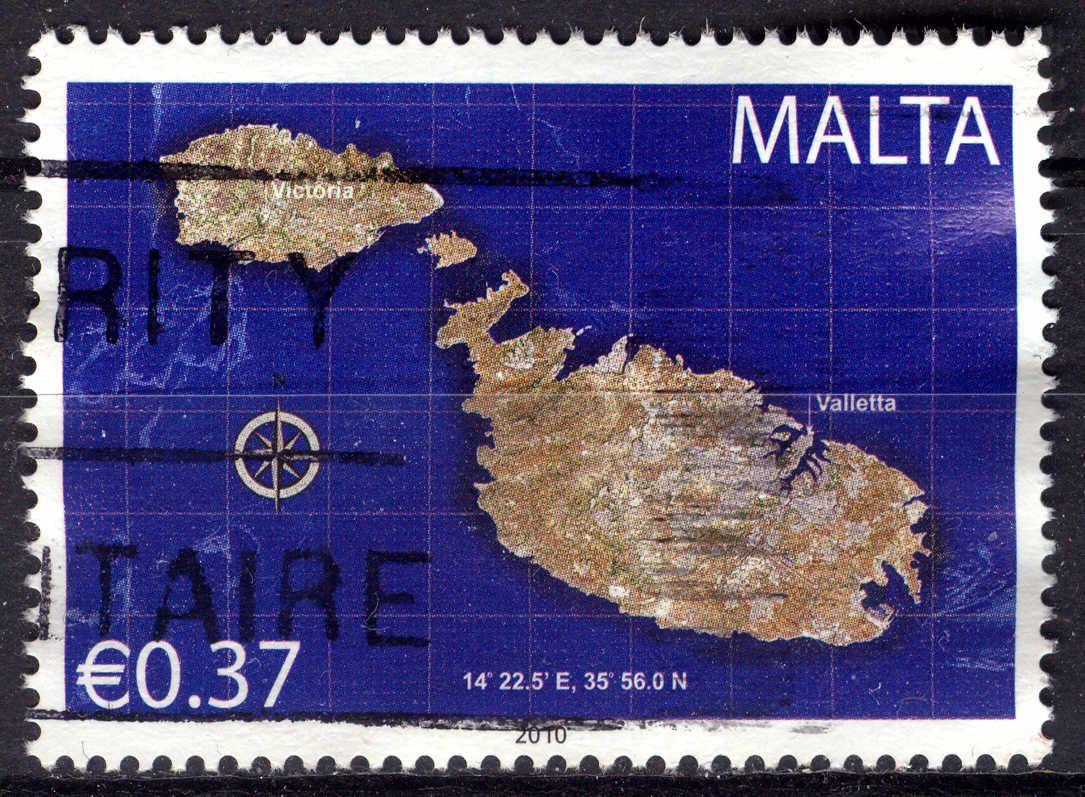 Malta Stamp - Map of Malta   Stamps - Malta   Stamp, Malta