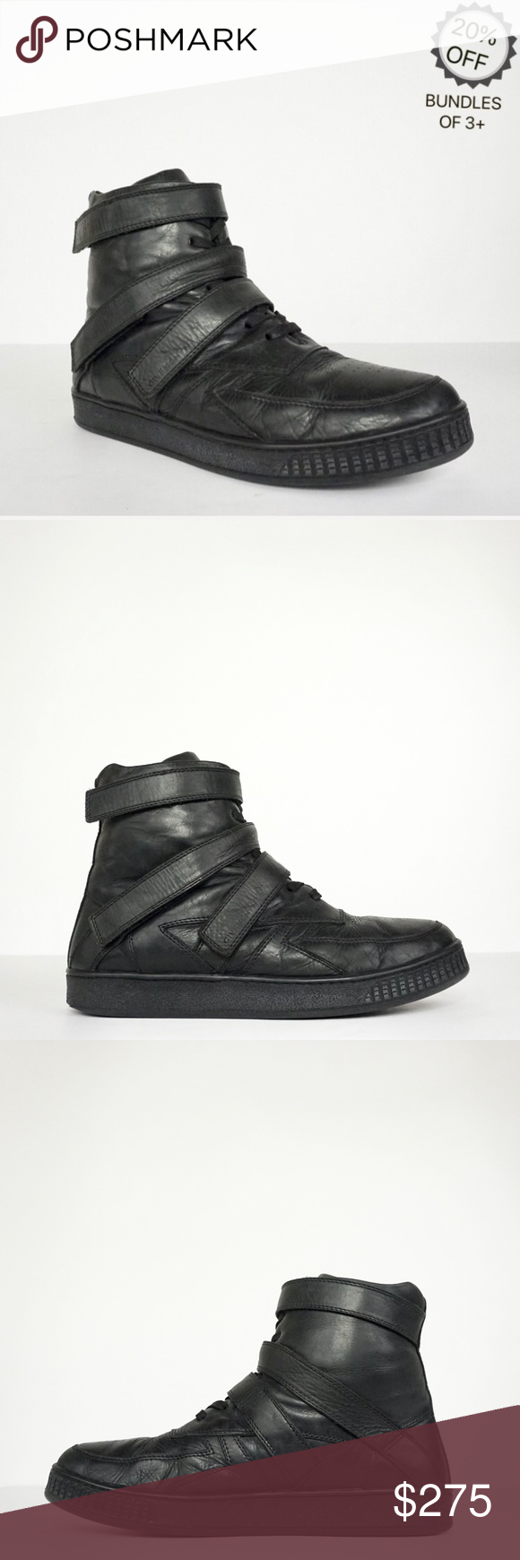 Givenchy   High Top Black Leather Sneakers   42 Givenchy   High Top Black Leather Sneakers   42  Men...