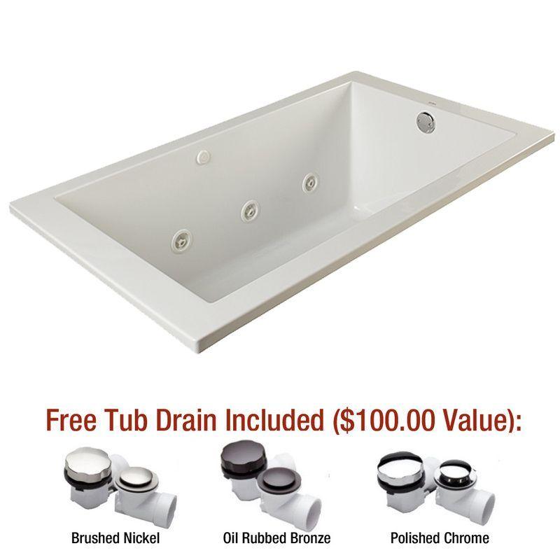 Mirabelle Miredw6636 Whirlpool Tub Tub Soaking Bathtubs