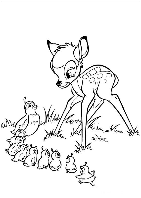Bambi Coloring Pages For Kids Printable Online 10