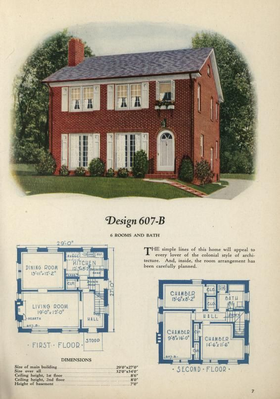 Old homes and house plans