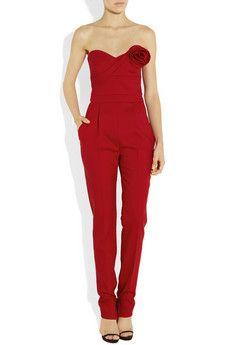 Valentino, Red jumpsuit. UNF.