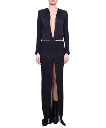 HAIDER ACKERMANN Crepe Jumpsuit With Cut-Out. #haiderackermann #cloth #cut-out