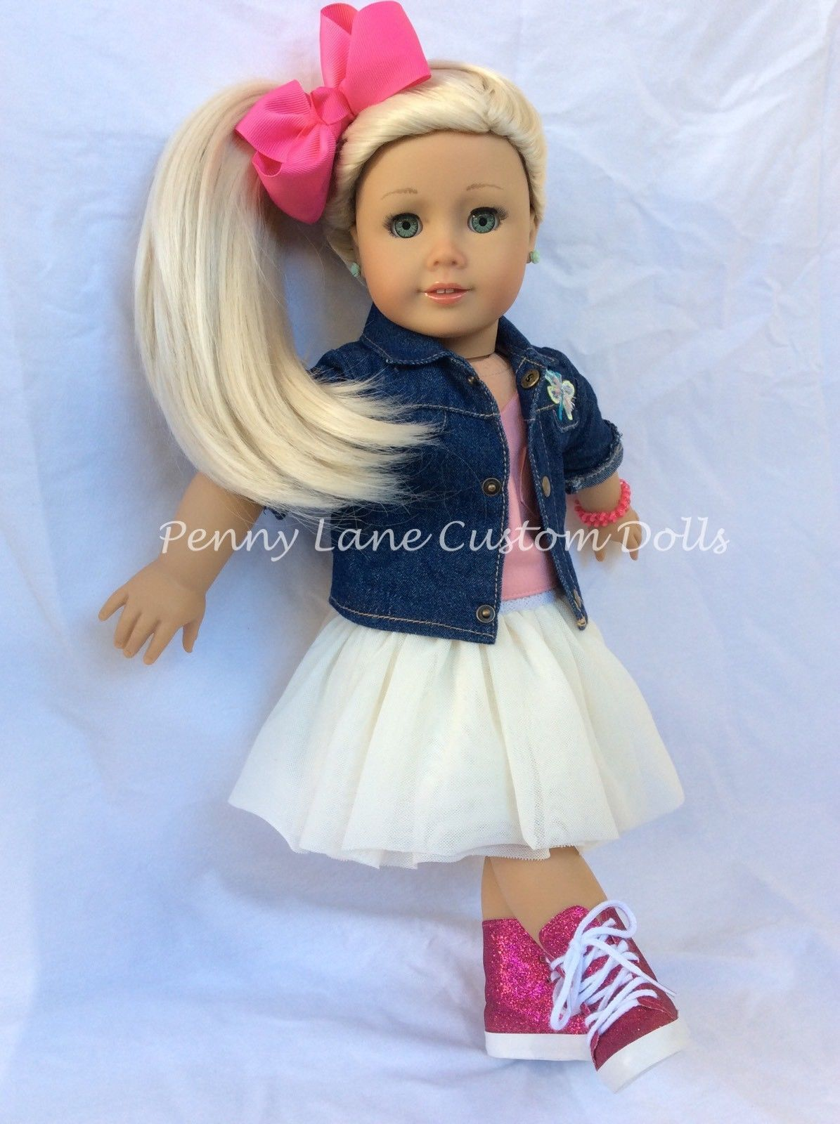 """Pink Heart Print Tights 18/"""" Doll Clothes Fit American Girl Dolls"""