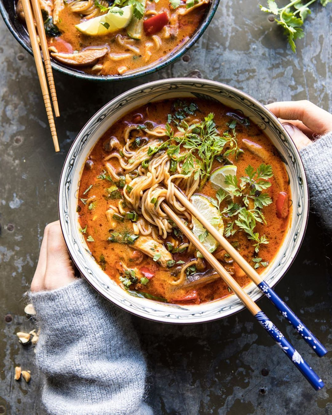 Sunday night ramen is never a bad idea --> 30 Minute Thai Peanut Chicken Ramen. ...  #instantpot #ramennoodles