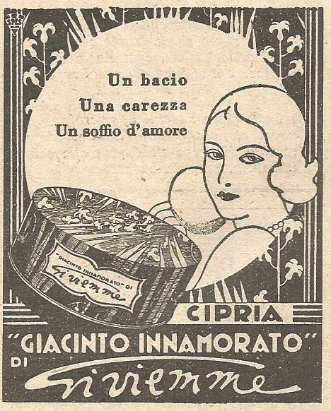 W2347 Cipria Giacinto Innamorato di Gi.vi.emme – Pubblicità del 1930 – Advert  | eBay