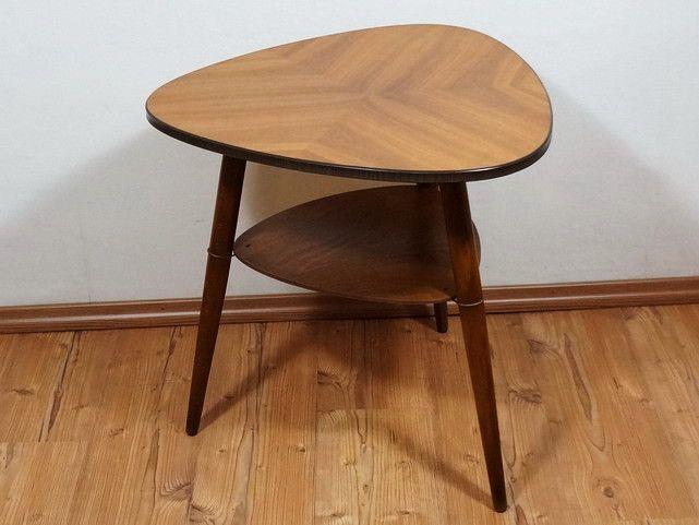 50er jahre tisch cocktailtisch dreibein tisch von for Tisch 50er design