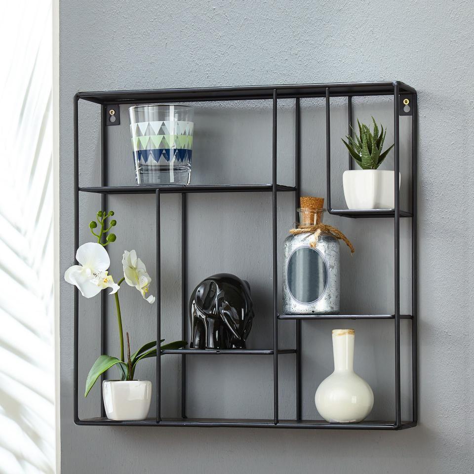 Metallregal (17x17)  Wandregal wohnzimmer, Wohnung badezimmer