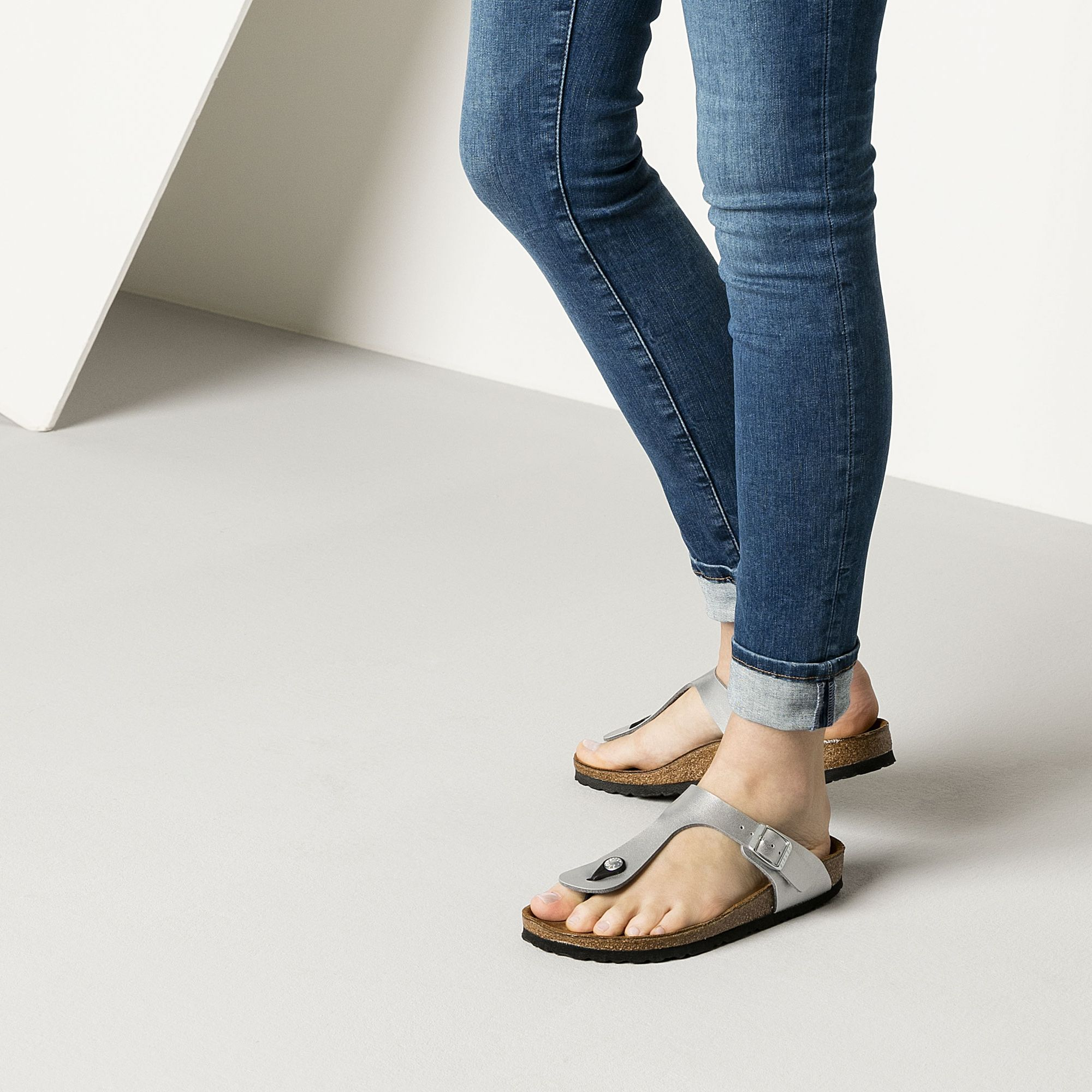 BIRKENSTOCK Gizeh BirkoFlor Silver in all sizes ? Buy directly from the  manufacturer online ? All fashion trends from Birkenstock