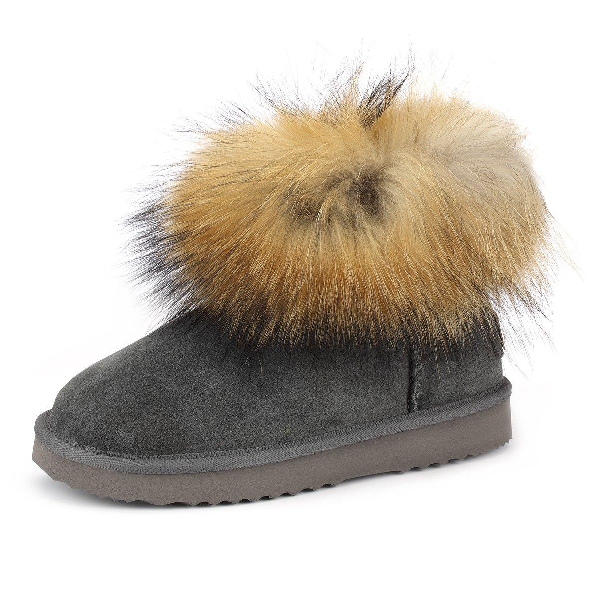 Skutari Boots Wildleder Fell Stiefel Diamant Winter Damen SpMVzU