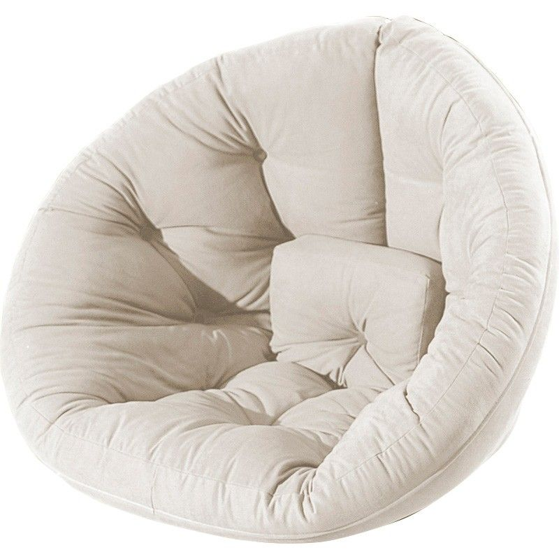 Nido Natural Futon By Fresh Cute And Modern Nest Chair Changes Into A Mattress For Extra Seating Or Sleepovers