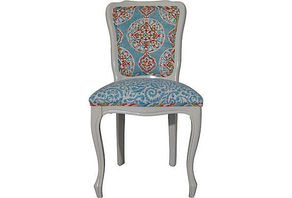 Carefree Charisma Suzani French Side Chair