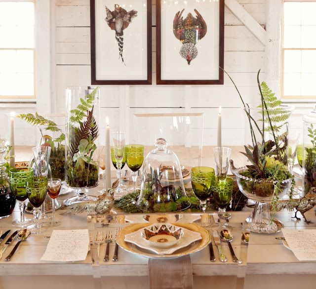 Gorgeous Natural Decor. I Love The Terrariums