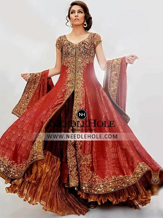 Shop Wedding Sharara Costume By Nilofer Shahid UK. Discover Shimmering Bridal Sharara Dress That Will Get You Maximum Attention Free Shipping Worldwide at Needlehole.com