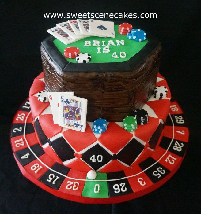 Casino Cake All Edible Details Including Roulette Wheel