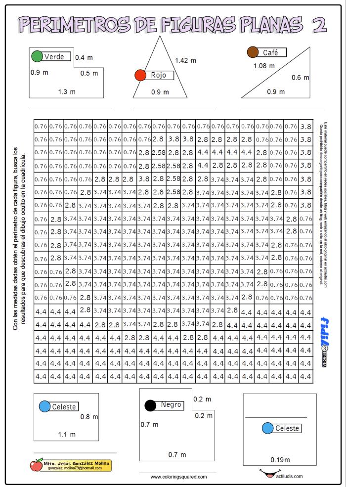 Perímetros de figuras planas - Actiludis