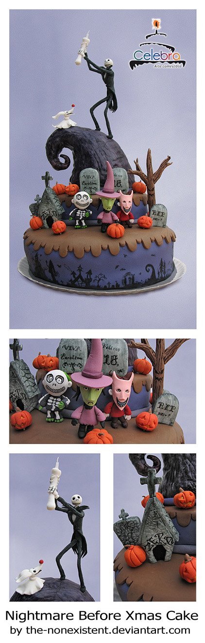 Nightmare Before Xmas Cake by \u003dThe-Nonexistent - Artisan Crafts