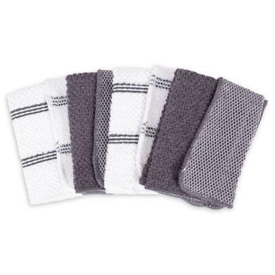 Salt Dish Cloths In Grey Set Of 4 Kitchen Towels Towel Set Towel