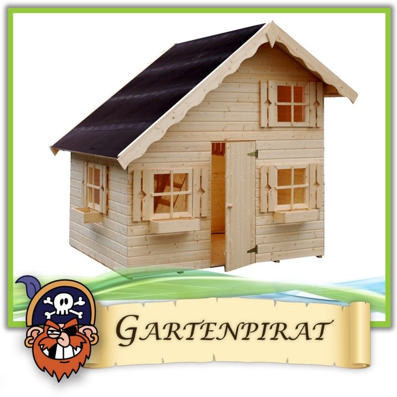 gro es kinder spielhaus gartenhaus heidi aus holz unbehandelt 220x180x228 cm ebay gartenhaus. Black Bedroom Furniture Sets. Home Design Ideas