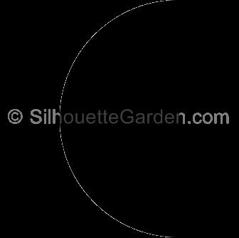 Half Circle Silhouette Silhouette Clip Art Half Circle Circle