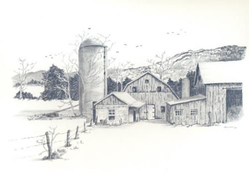 Drawings of old farms google search coloring book for Farm house drawings