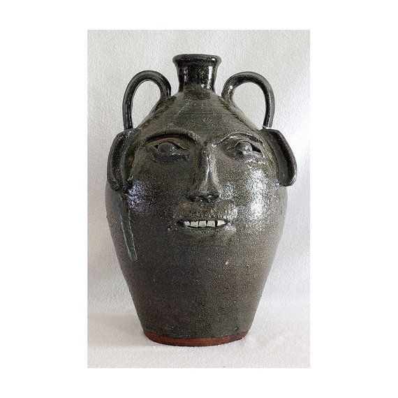 Vintage Burlon B Craig Large Three Gallon Face Jug Etsy
