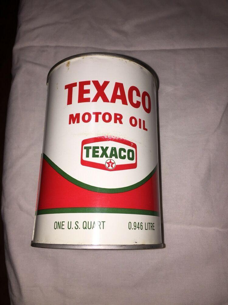 Vintage Texaco Motor Oil Can 1 Quart FULL 2020W HD rare
