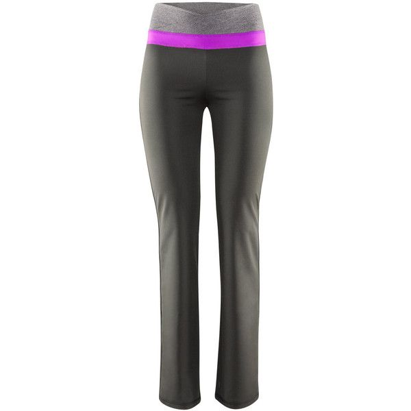 H&M Sports trousers (£15) ❤ liked on Polyvore featuring activewear, activewear pants, sport, dark grey, pants and sports activewear