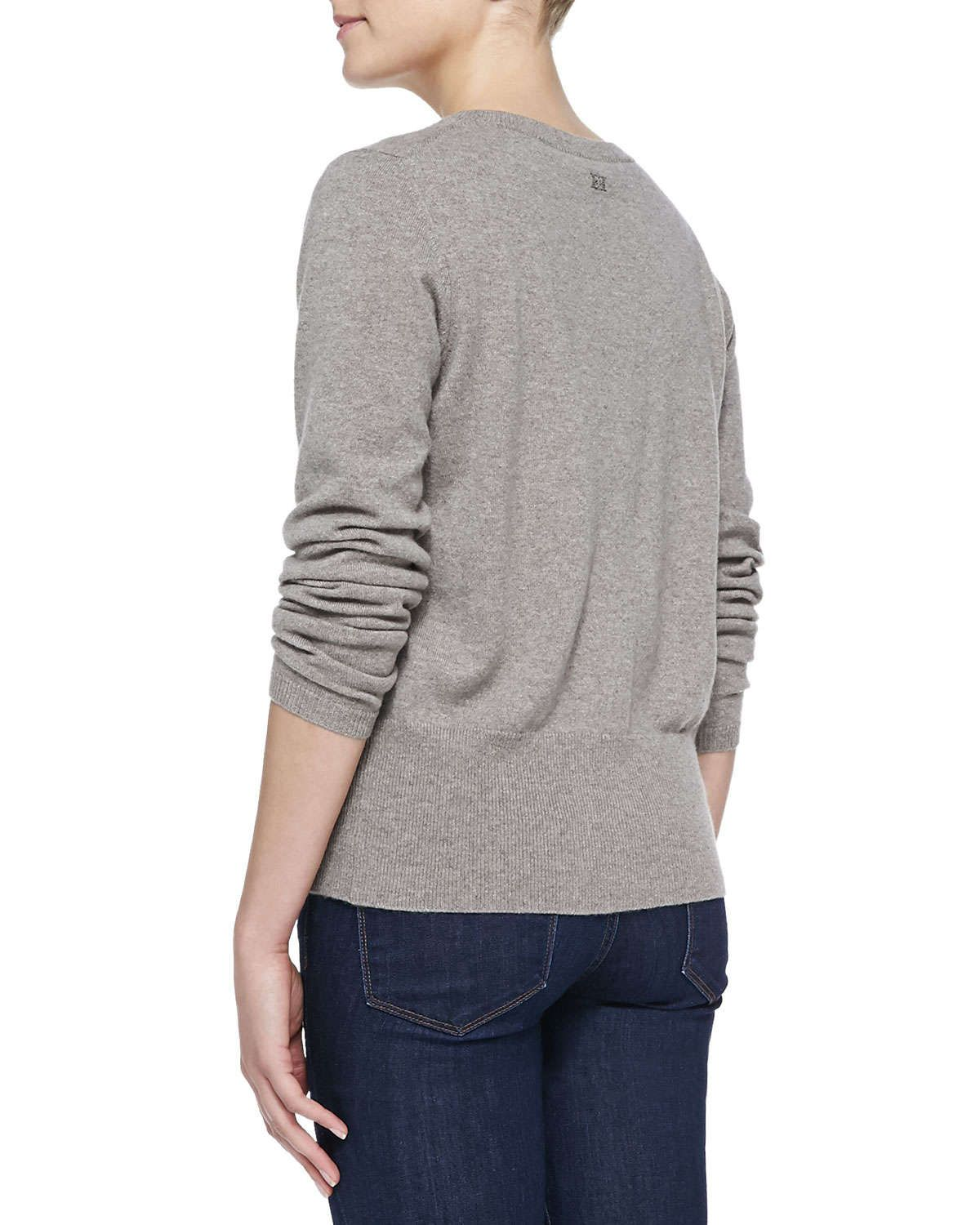 Button-Front Cashmere Cardigan, Taupe | Products | Pinterest ...