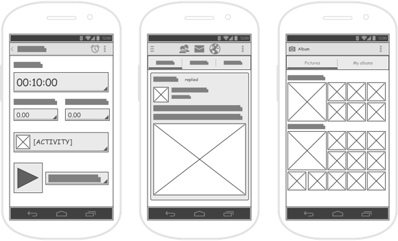 Using Wireframe Tool In Android Apps Design App Design Wireframe Android Apps Design