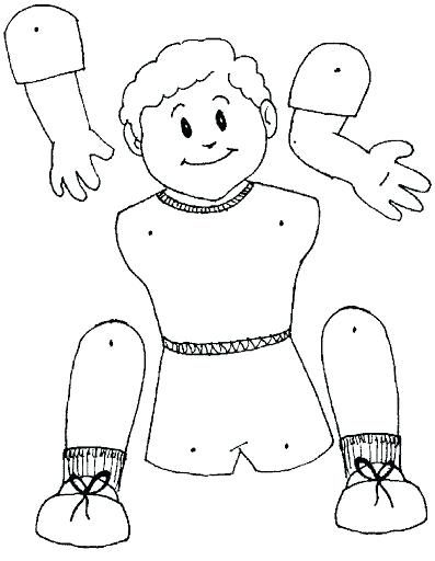 Body Parts Coloring Sheets Body
