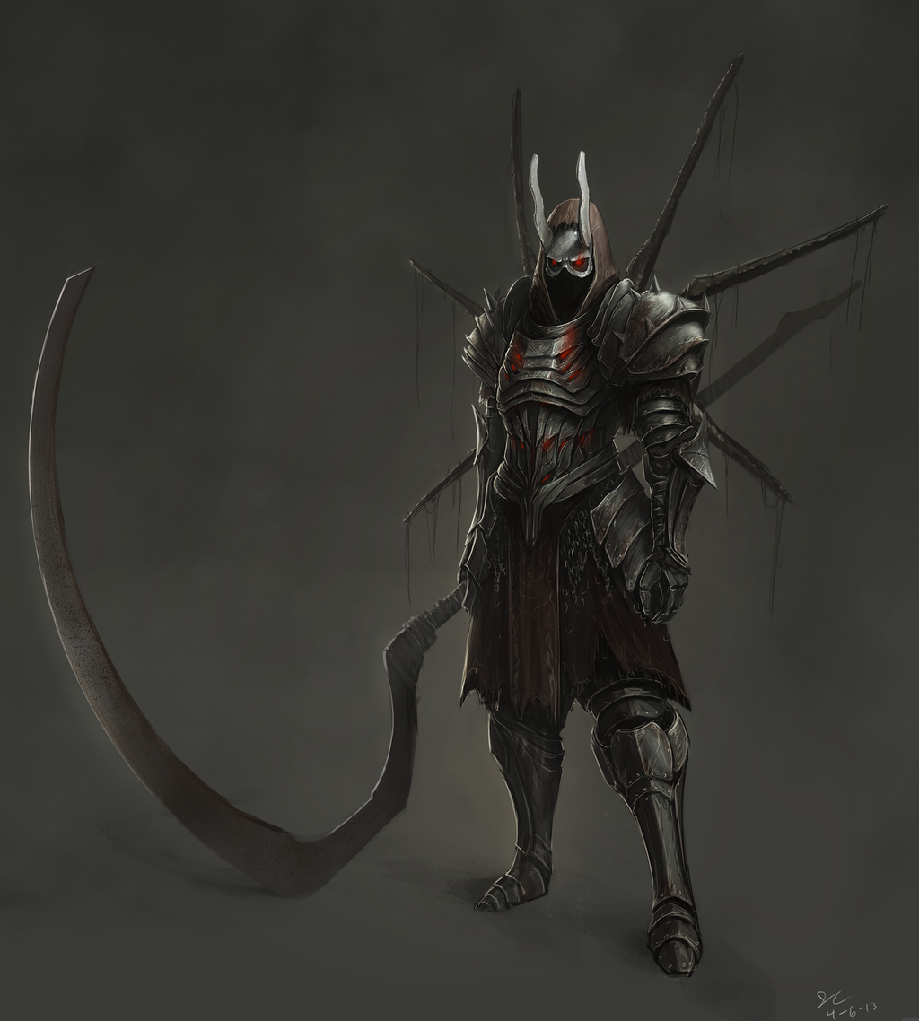Character Design Dark Souls 3 : Dark souls style armor concept by babaganoosh