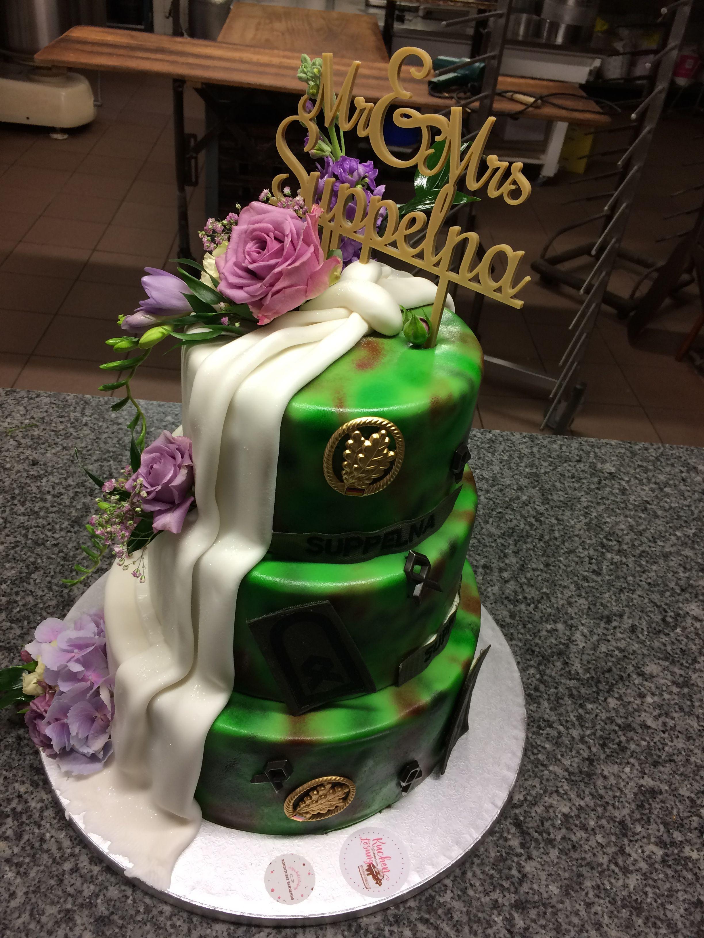 Hochzeitstorte Wedding Army Bundeswehr Kuchen Hochzeitstorte Hochzeitsdekoration Kuchen