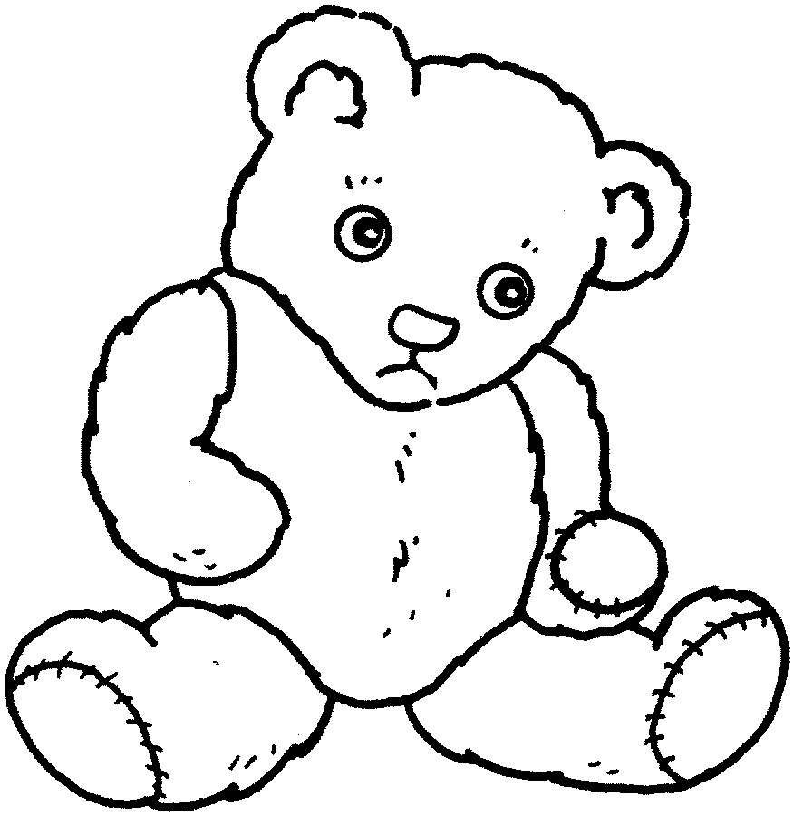 Teddy bear feeling sad printable coloring pages online applique