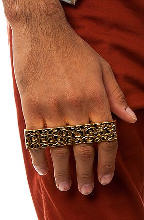 604c029cc The Leopard 4 Finger Ring in Gold by DOPE   Jewelry   Rings, Jewelry ...