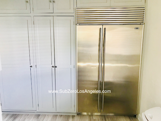 Our Recent Work Sub Zero Refrigerator 632 Model Repaired In Beverly Hills Ca Leaking Ice Maker Problem Is Solved Door Seal Gasket