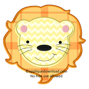 Animals Animal Faces Lion Face Machine Embroidery