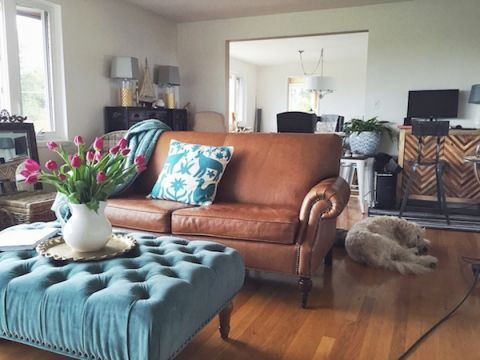 I love that couch!  The Inspired Room - Getting Settled Into Our New Seattle Home