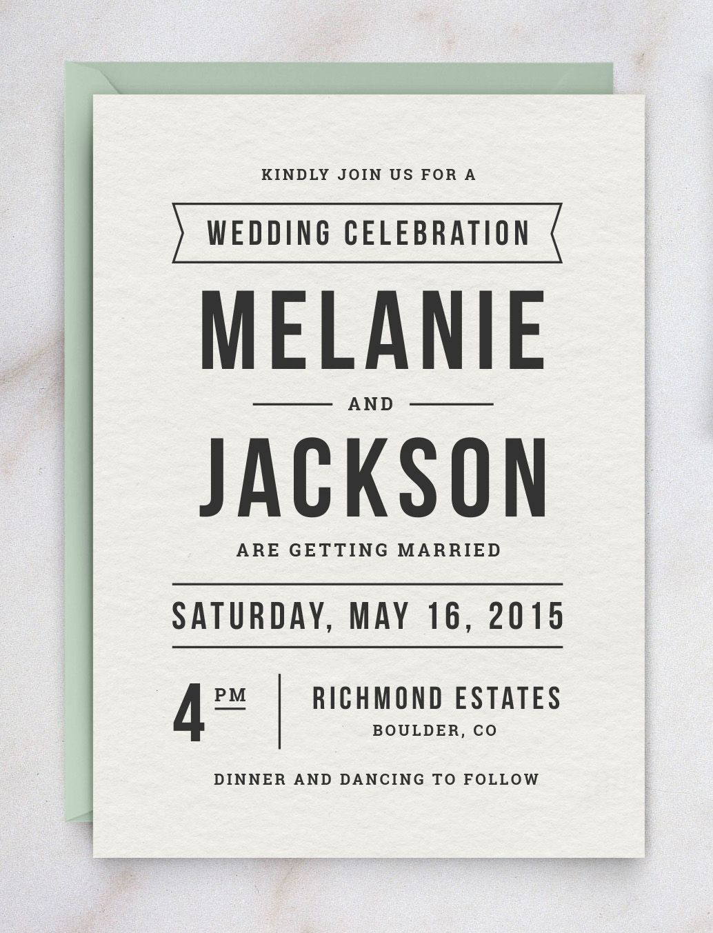 DIY wedding invitations: Get this elegant invitation template with ...