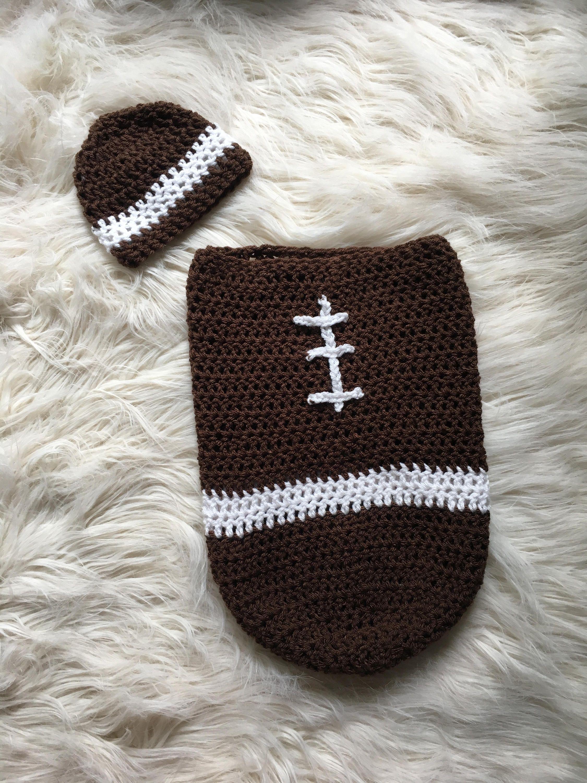 Crochet Baby Football Cocoon - Baby Football Blanket - Baby Football ...