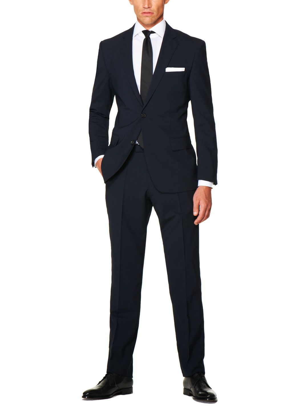 James stretch wool two-button suit Boss Black 9b40baf9999