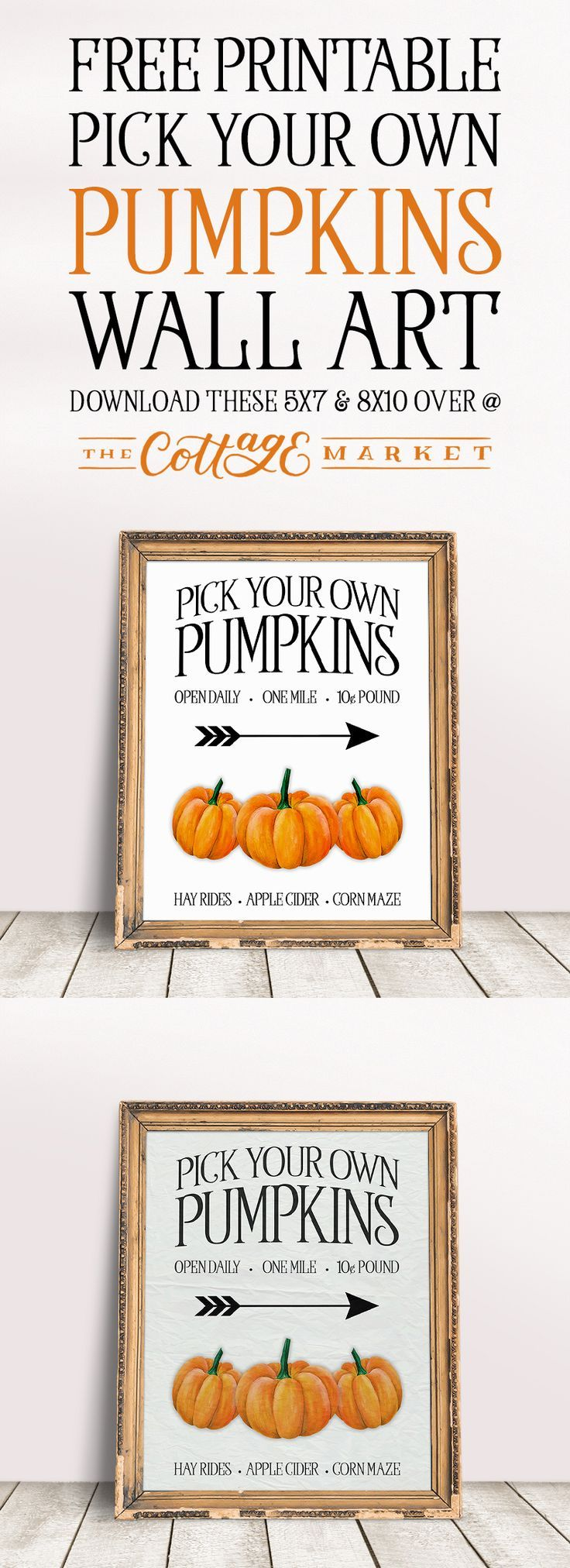 Free Printable Pick Your Own Pumpkins Wall Art | Pick your ...