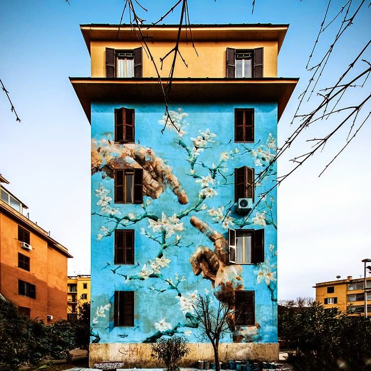 Jericho paints a new mural in Rome, Italy for Big City Life