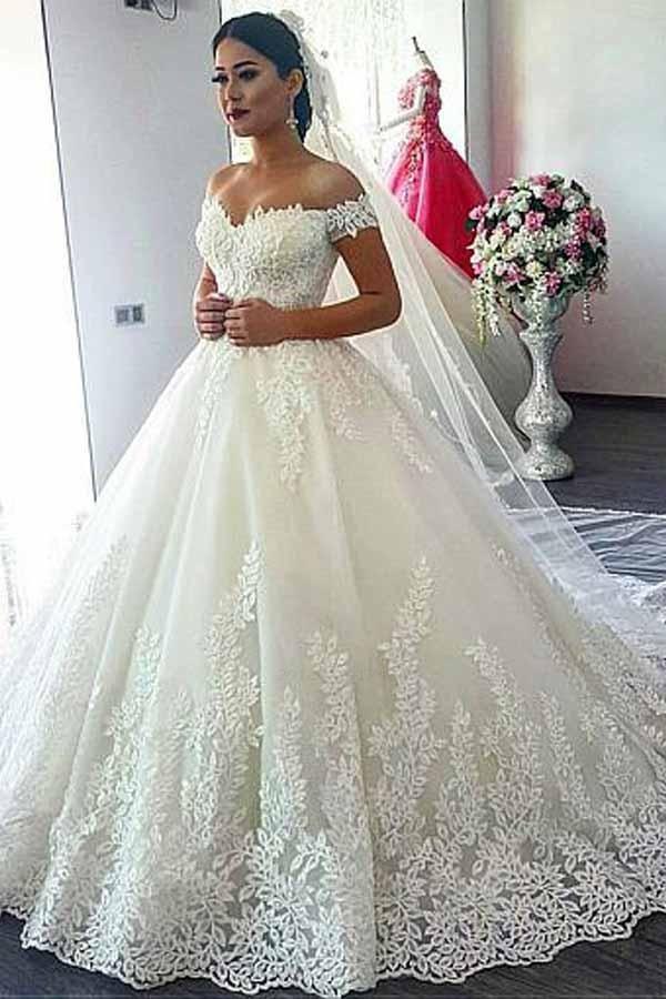 elegant wedding fancy wedding gowns 2018