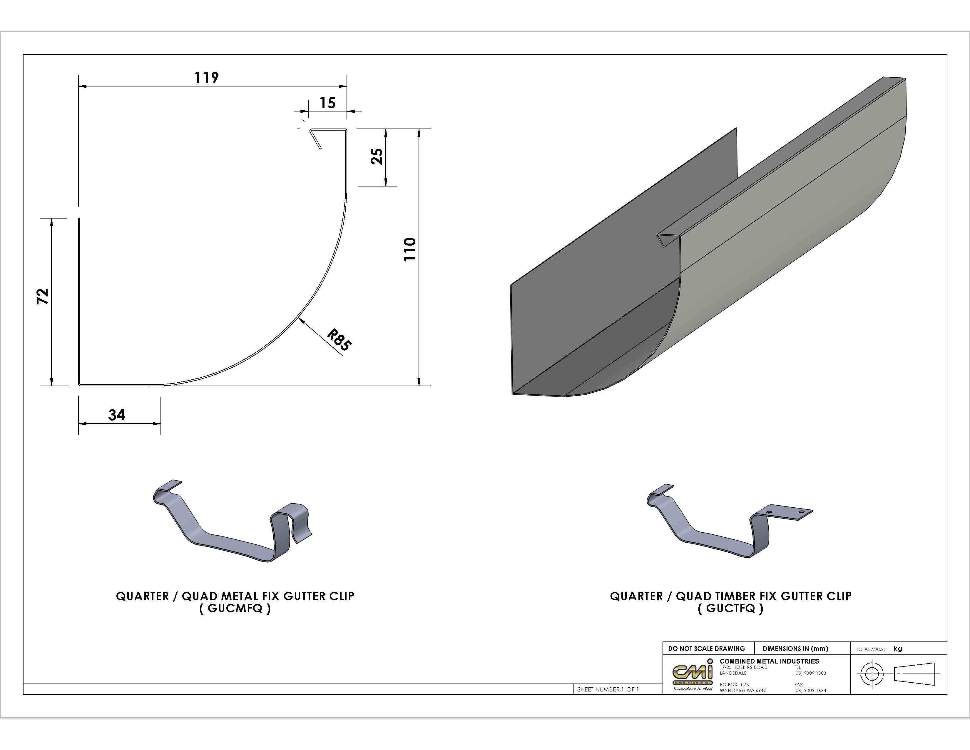 Gutters Perth Combined Metal Industries Gutters Gutter Profiles Gutter Sizes