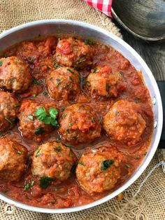 Photo of CACCIATORA MEATBALLS cooked in a pan Second course with …