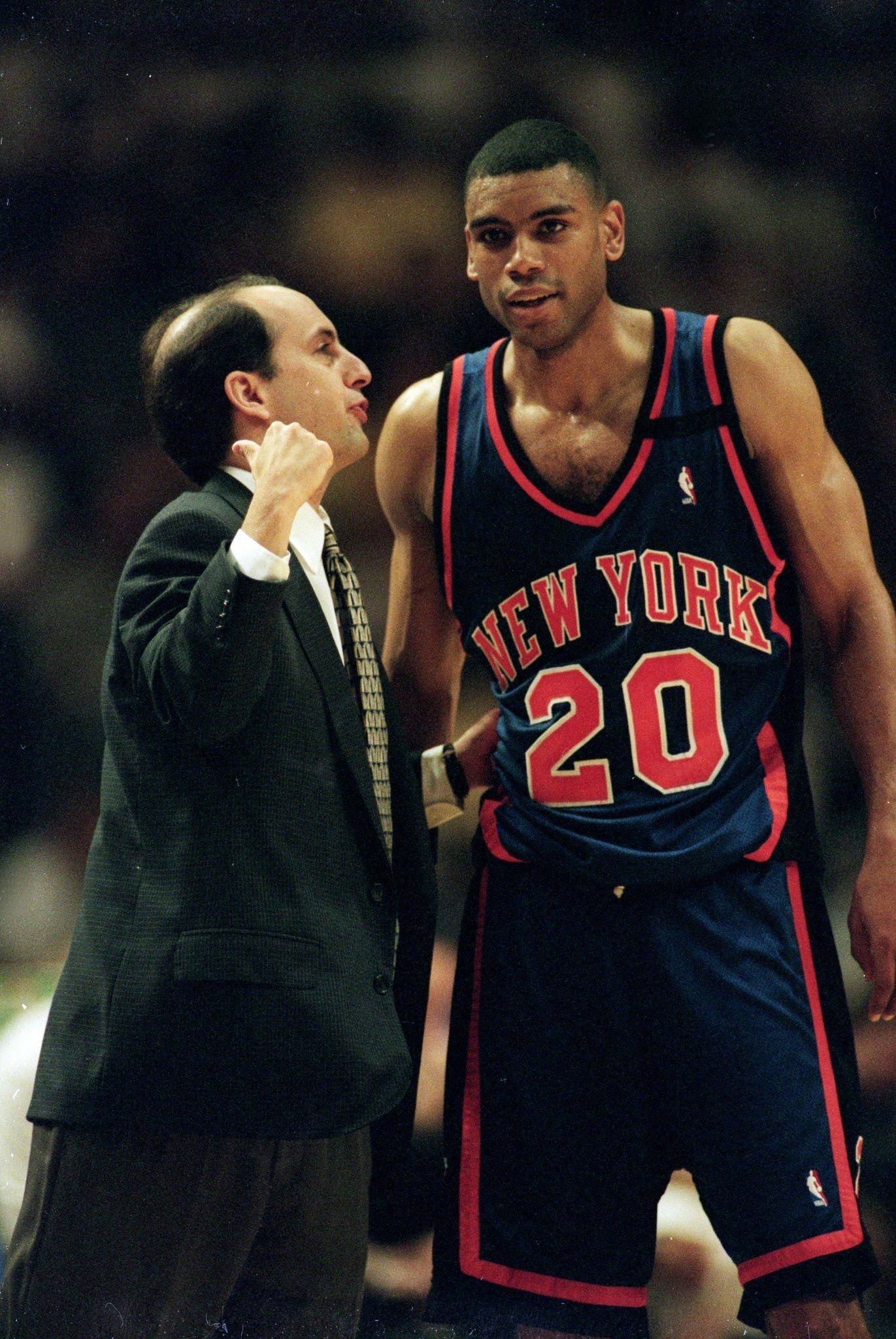Allan Houston and Jeff Van Gundy New York Knicks