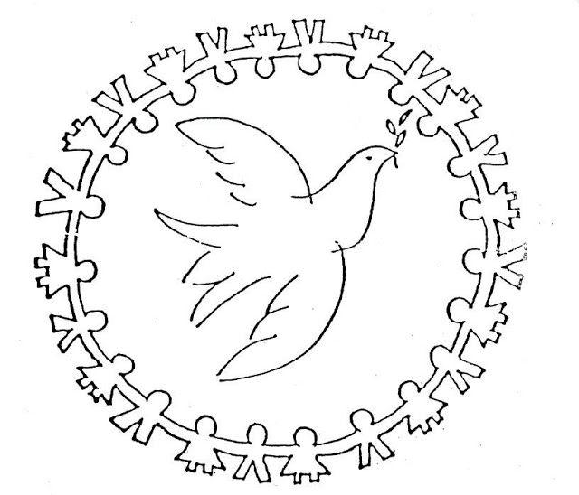 Mandalas del dia de la Paz, para colorear y trabajar la atención