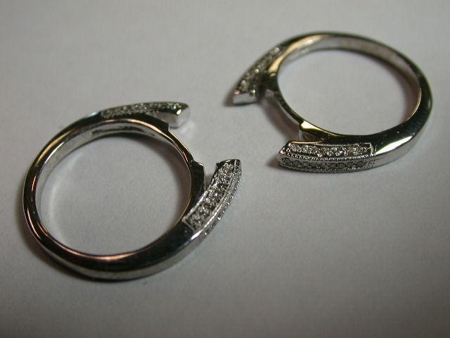 Custom Tracer Or Shadow Wedding Bands To Fit Almost Any Engagement