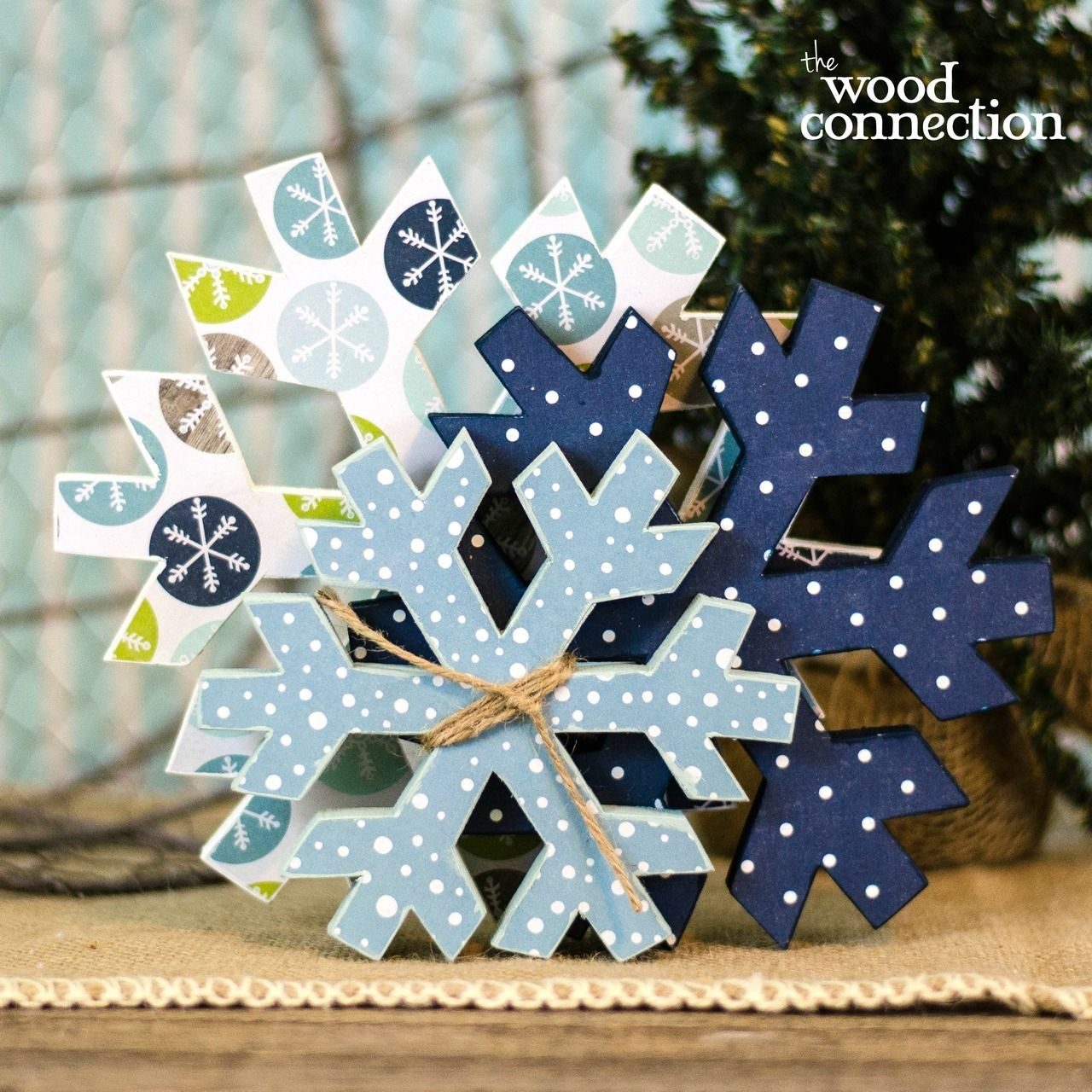 The Wood Connection Snowflake Stacking 995